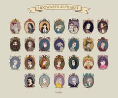 Hogwarts' Alphabet by CoalRye