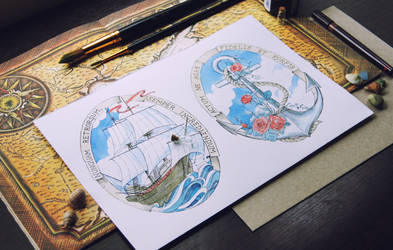 Ship and Anchor by CoalRye