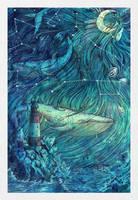 Moonlit Sea by CoalRye