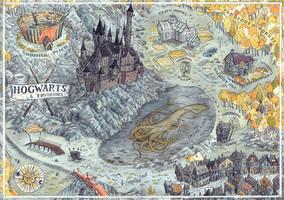 Hogwarts Map by CoalRye