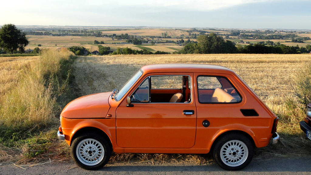 1985 polski fiat 126p in sunset colour by grzesiol on. Black Bedroom Furniture Sets. Home Design Ideas