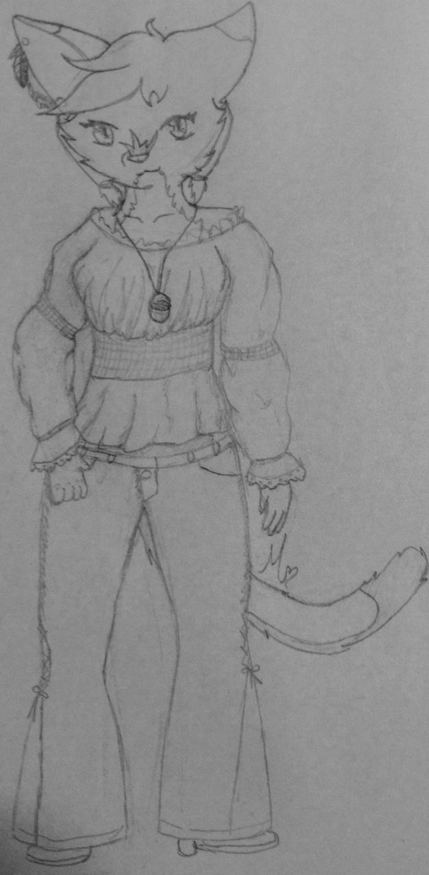 Althaia Anthro sketch by AutumnBells