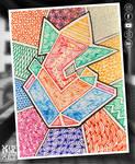 Geometric Ganesha Penart by vishalsurvearts