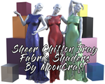 FREE - Sheer Chiffon Fabric  Iray Shaders for Daz by mooncraft3d