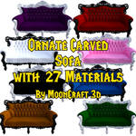 FREE 3D Ornate Carved Sofa - Daz 3D