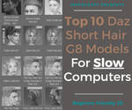 Top 10 Short Hair Models For Slow Computers - Daz by mooncraft3d