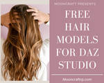 FREE Hair For Daz 3D Studio by mooncraft3d