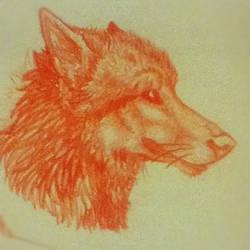 Random canine sketch by SpiritDragonWolf
