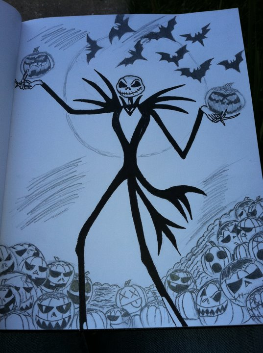 The Nightmare Before Christmas~Pumpkin King Sketch by LegendZ14 on ... Nightmare Before Christmas Pumpkin Patch Drawing