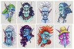 Commission Stream: Troll Portraits