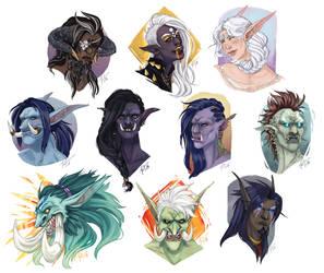Commission Stream 1: Sketch Portraits