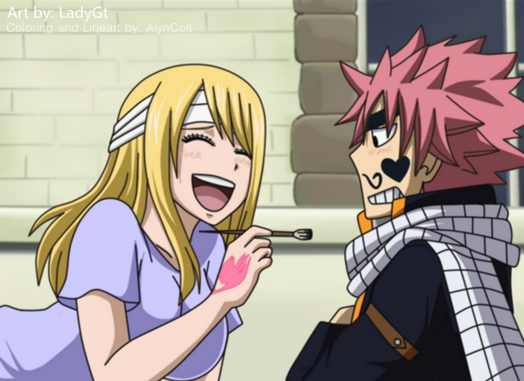 Natsu and Lucy. (LadyGt) by AlynColt on DeviantArt
