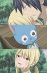 Fairy Tail 529 - Lucy, Gray and Happy.