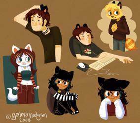 Furry concepts by schematichands
