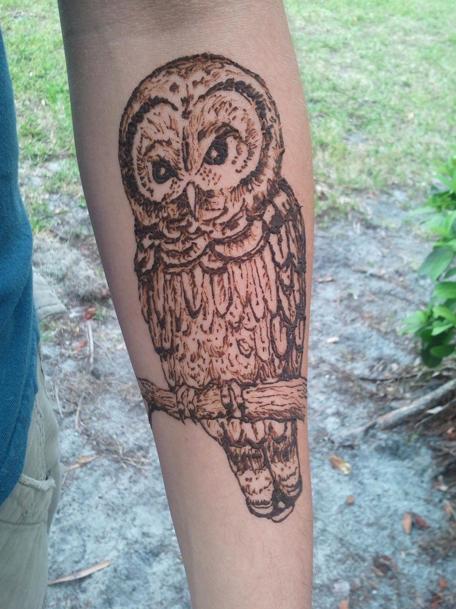 owl henna by ashleykayley on deviantart