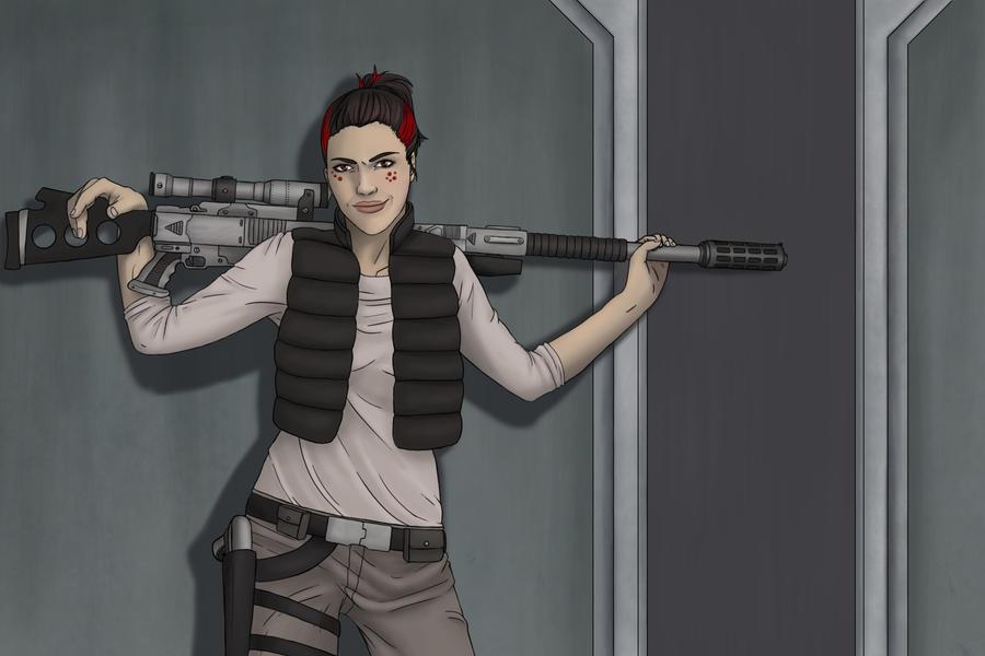 Ziva the Sniper by AshleyKayley