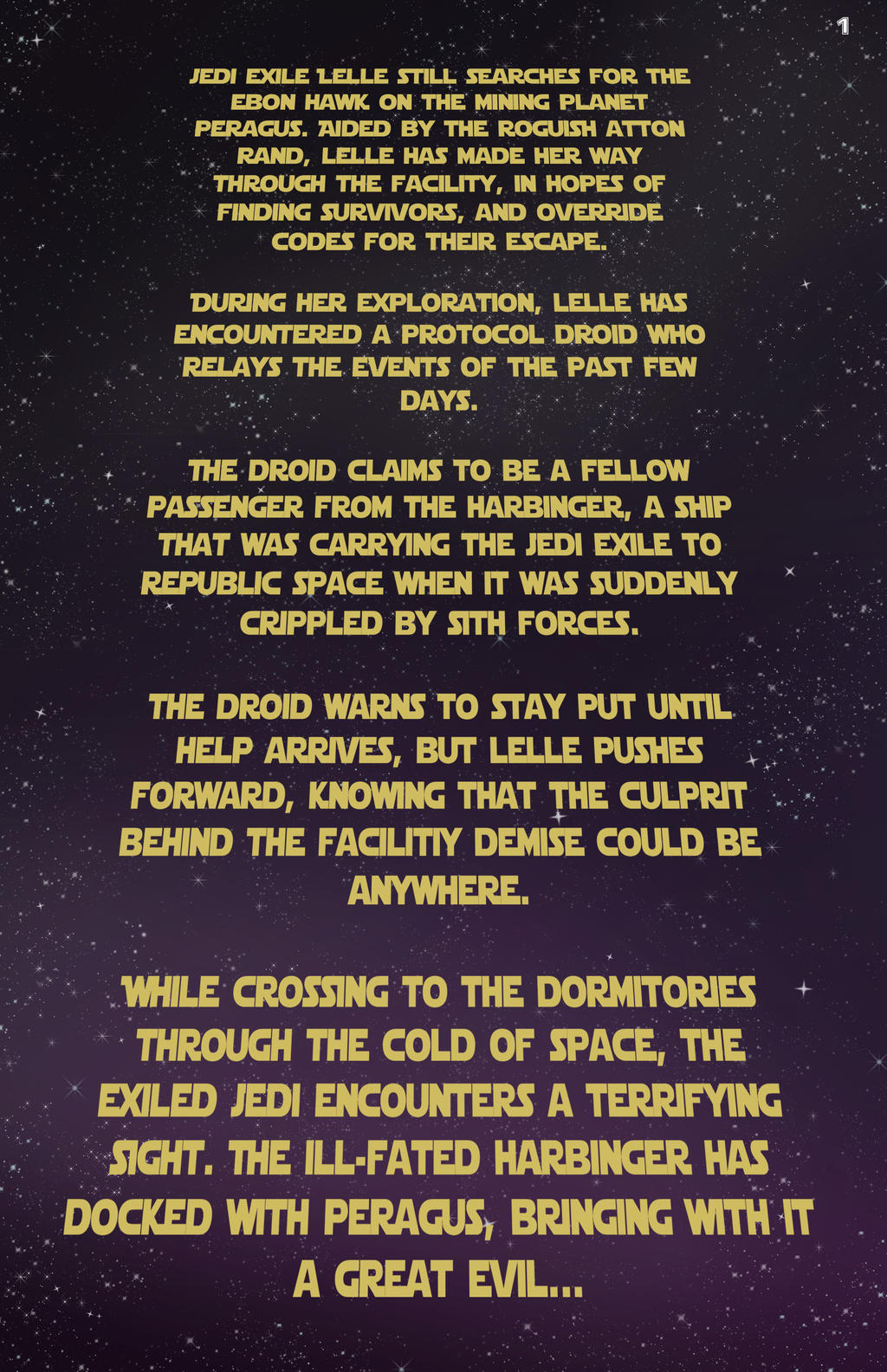 UT of the Exile, Issue 3, Page 1