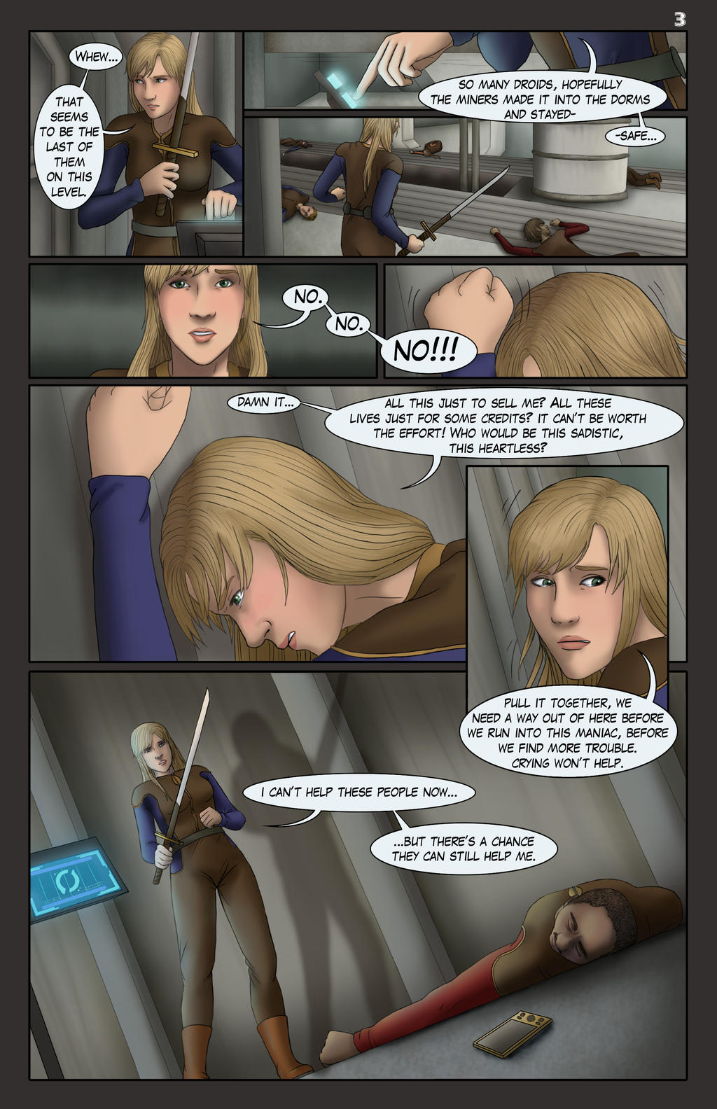 Unfinished Tales of the Exile, Issue 3, Page 3 by AshleyKayley