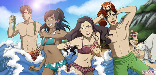 Legend of Korra at the Beach