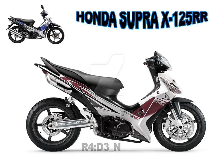 Honda Supra X 125 Rr By Radautodesign On Deviantart