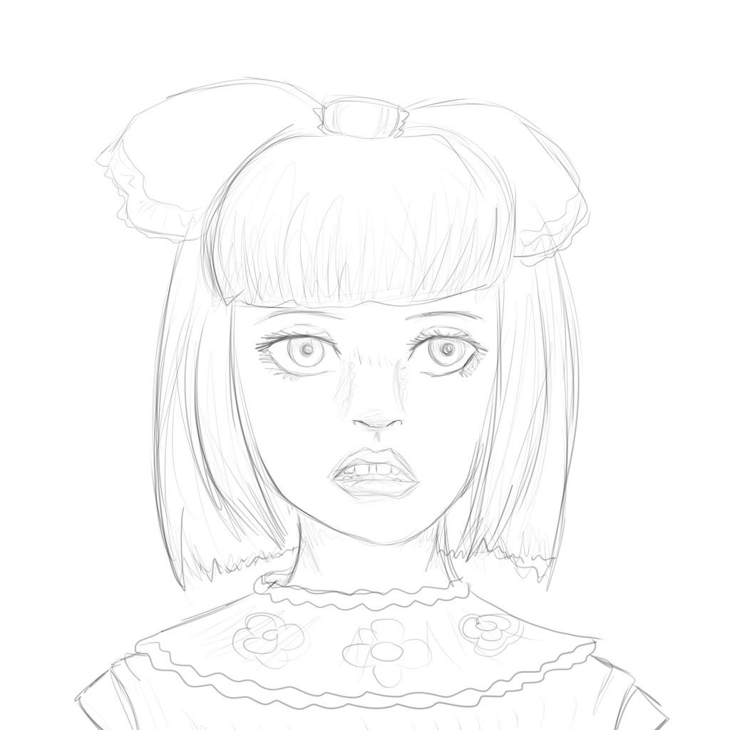 Melanie Martinez Cry Baby Coloring Page