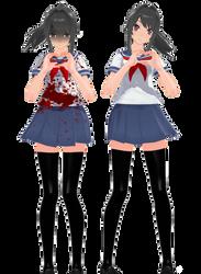[MMDxYS] :: TDA Ayano Aishi and Yandere +DL :: by XutsukushiX