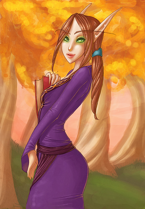 Blood Elf Mage Commission by szienna