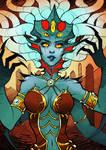 Inktober 03 - Queen Azshara