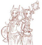be paladin and priest - sketch