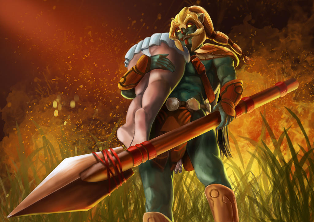 my dota2 character huskar by christerful on deviantart