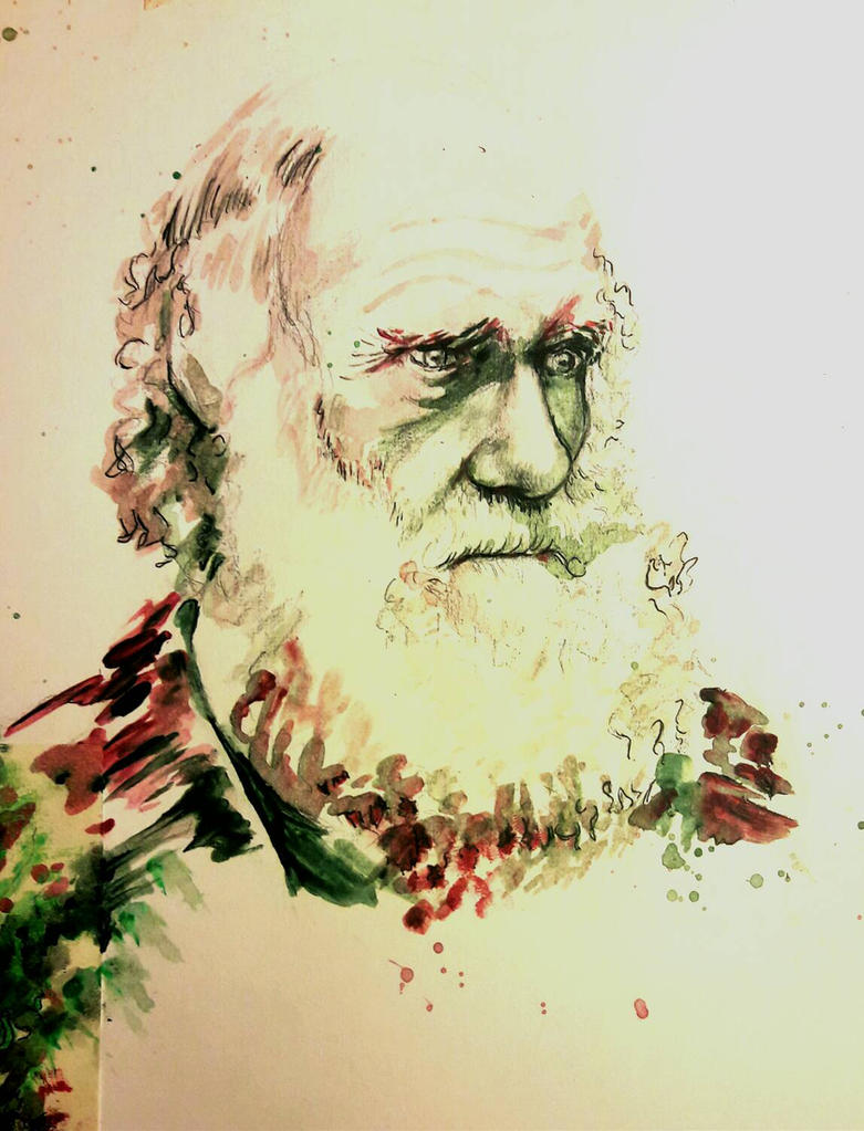 Charles Darwin Study  by Binksake