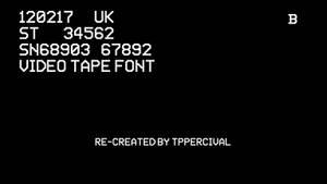 Video Tape Font