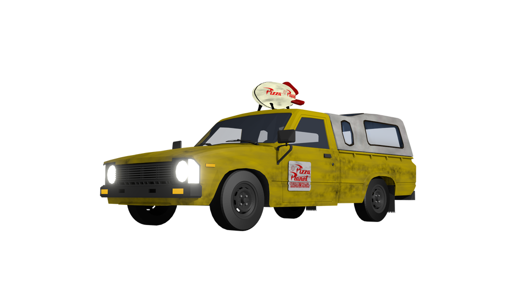 Pizza Planet Delivery Truck 3D Model 2017 Update by ...