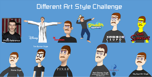 Different Art Style Challenge by TPPercival