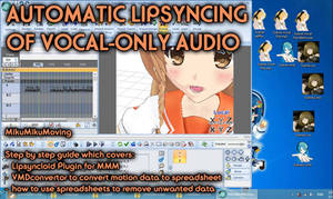 MMM / MMD Automatic Lipsyncing for vocal tracks