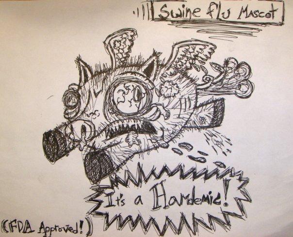 swine flu mascot by mecha-neer
