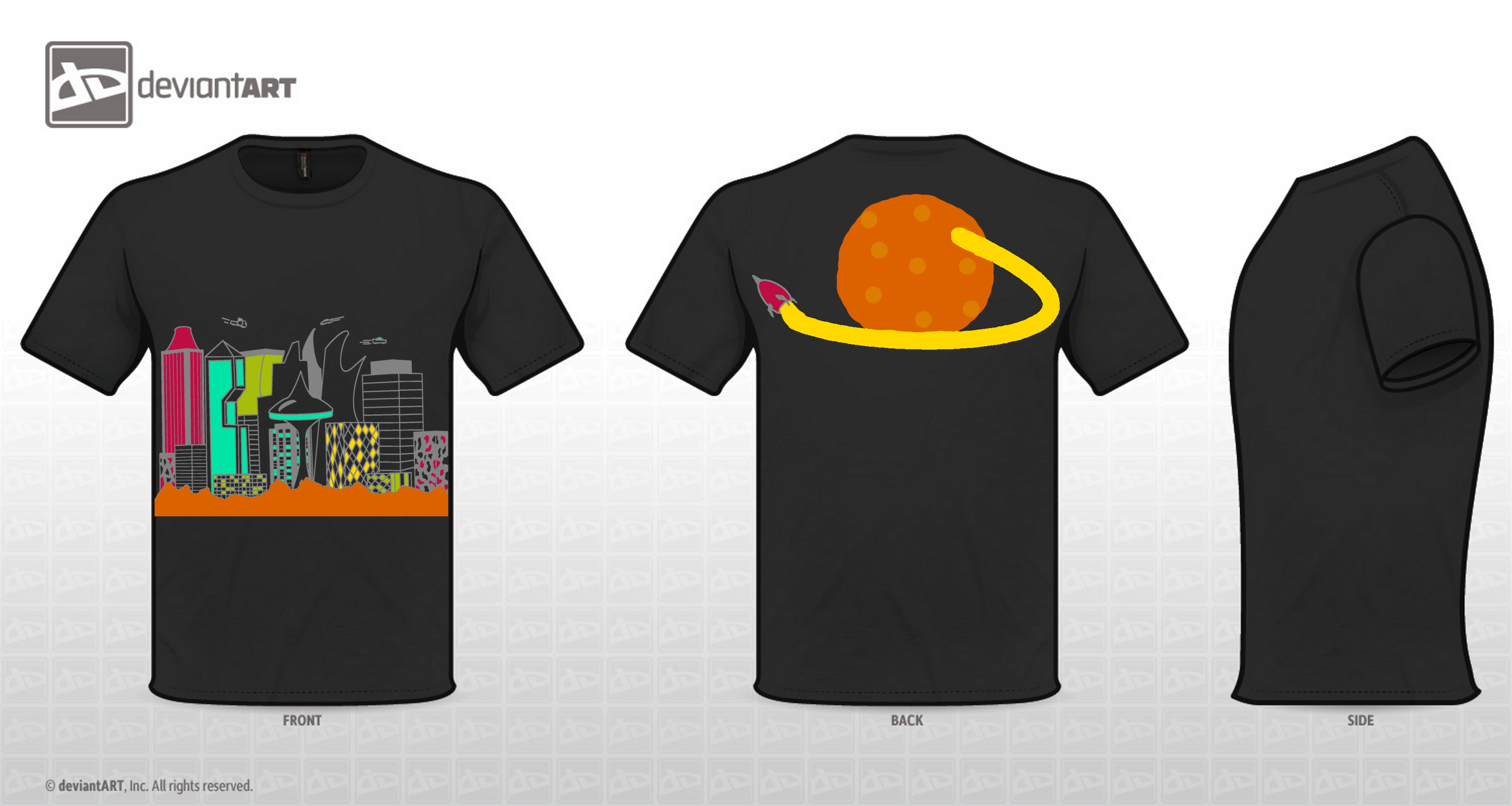 Black t shirt vector photoshop - Design T Shirt Nl Mars City T Shirt Design By N1co95