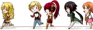 [ RWBY ] Run, RWBY Casts !! [ Chibi ]