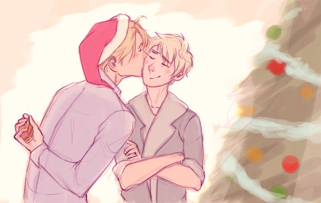 USUK CHRISTMAS by FirelordPie