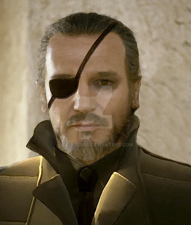 Liam Neeson as Big Boss Metal Gear Solid by Zalkel000