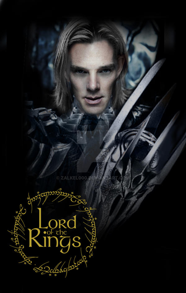 benedict cumberbatch as sauron lotr by zalkel000 on deviantart