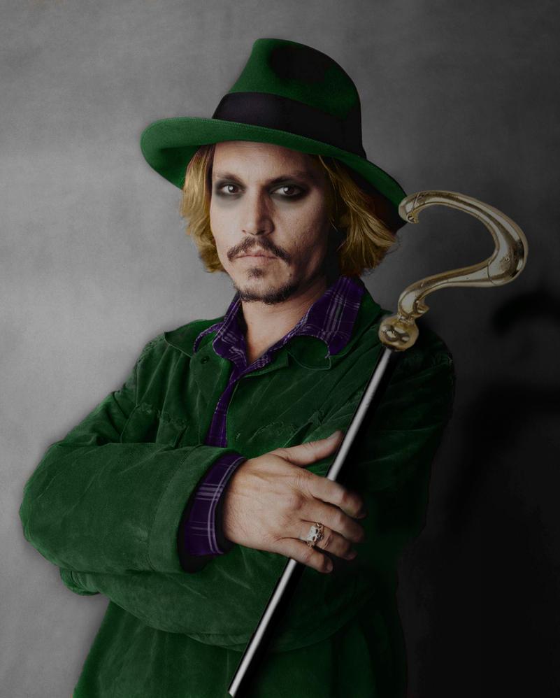Johnny Depp as The Riddler by Zalkel000 on DeviantArt