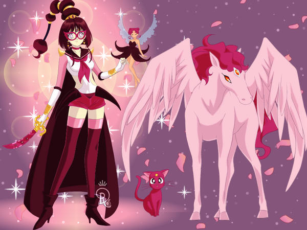 Sailor Magenta and her special helpers by NewGal97