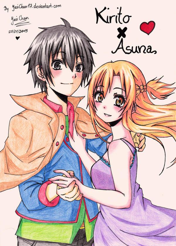 SAO - Kirito x Asuna by JasiChan17