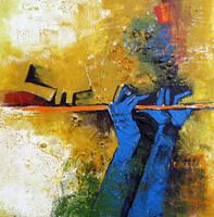 Crop of a painting - Krishna by vishalmisra