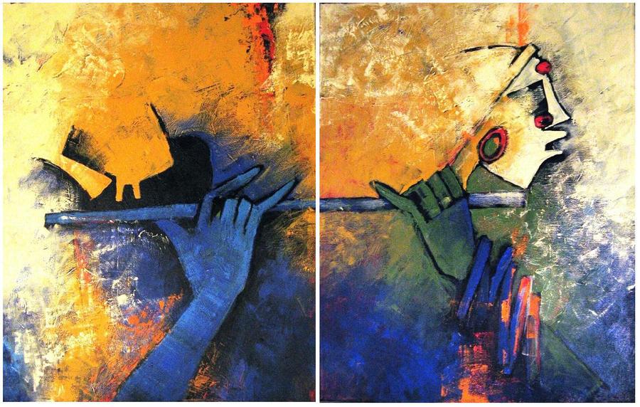 Krishna Flute Cartoon Krishna Flute Player by