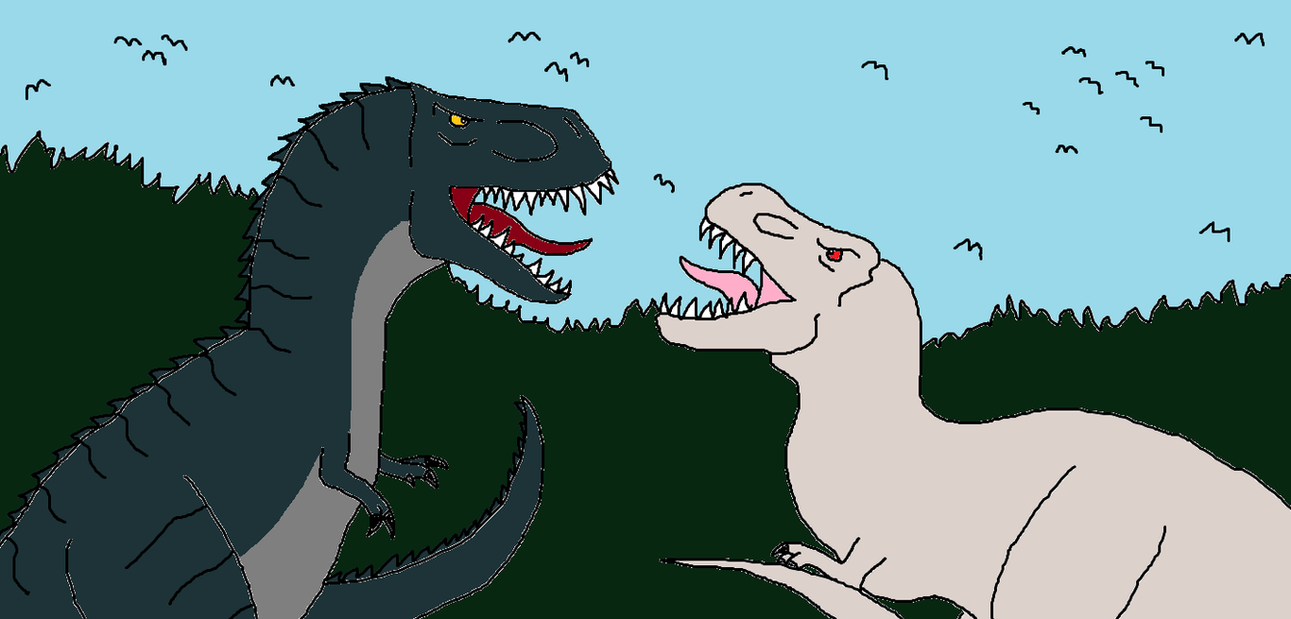 V-Rex vs Giganotosaurus by Sci-fiman2xxx on DeviantArt
