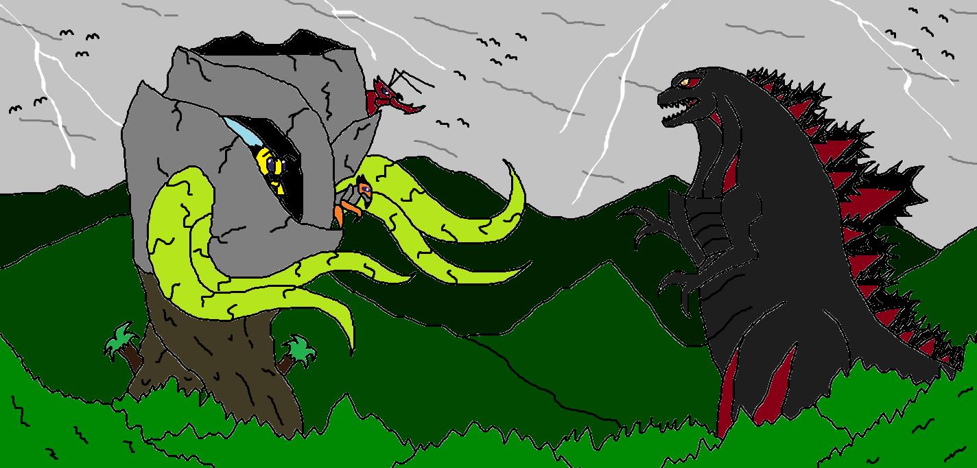 EG Kaiju Shin Godzilla vs Trilaqueens by Syfyman2XXX on ...  Cloverfield Vs Kaiju