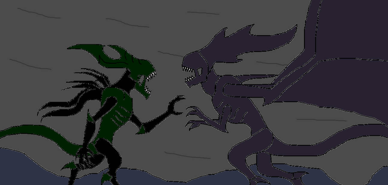 Xenomorph King Vs Flying Queen By Syfyman2xxx On Deviantart