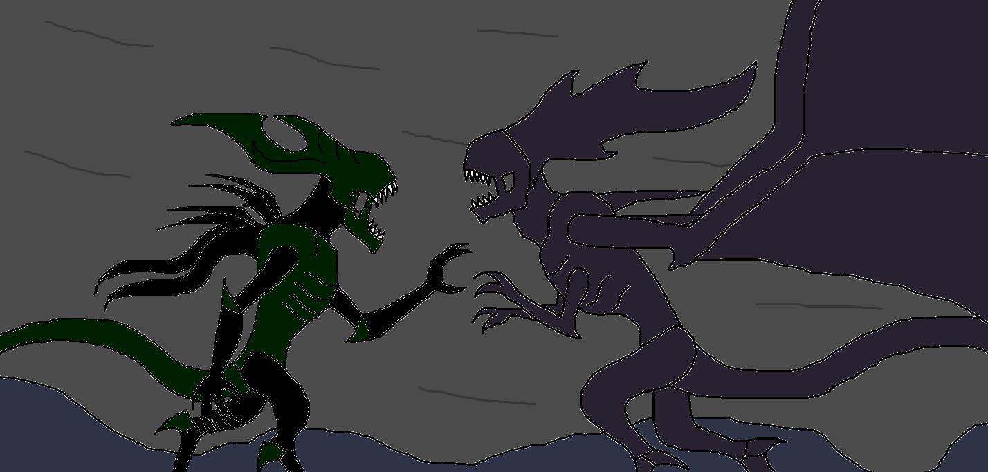 Xenomorph King vs Flying Queen by Syfyman2XXX on DeviantArt